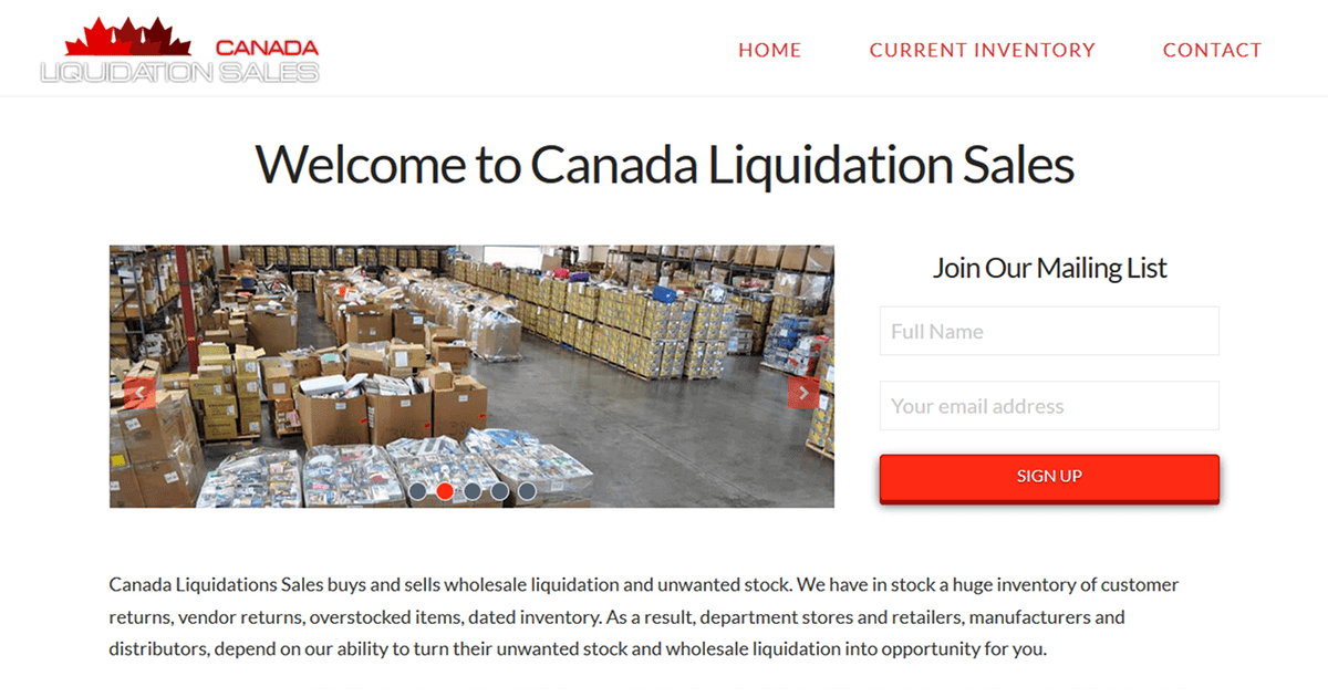 Wholesale Liquidation - Canada Liquidation Sales - Buy and Sell Stocks